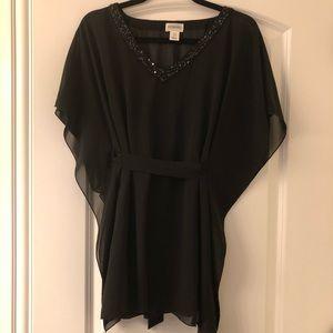 Motherhood black dress blouse size M